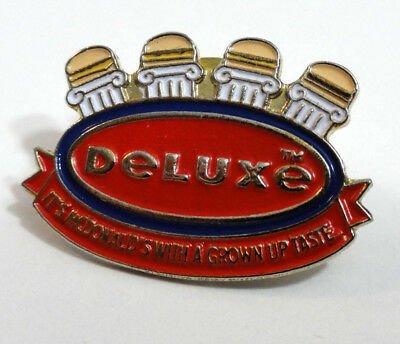 McDonald's Vintage ARCH DeLUXE burger sandwich lapel pin of failed product USA