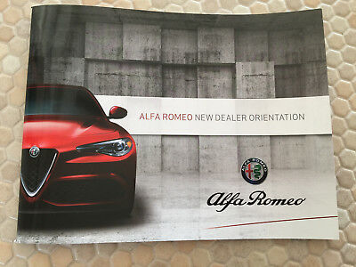 Alfa Romeo New Dealer Orientation Brochure Book Manual Usa Edition 2017 New Rare