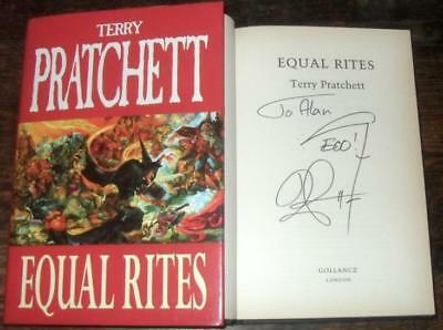 EQUAL RIGHTS signed TERRY PRATCHETT HB 1996 1st DJ W H SMITH PROMO EDITION