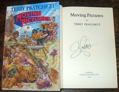 Moving Pictures Signed - Terry Pratchett Hb D/j 1990 1/1 Discworld