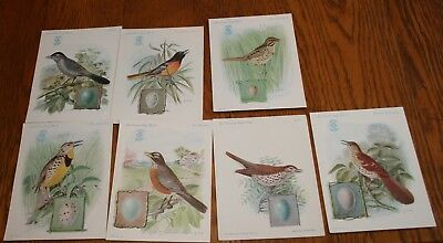 Lot of 7 Different 1920's Singer Sewing Advertising American Bird Cards