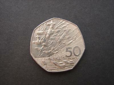 (B455)  1994 50 Year Anniversary D Day Old Large 50p Coin WW2