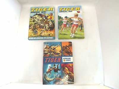 3X Vintage TIGER ANNUALS Dated 1964,1975,1981 - C44