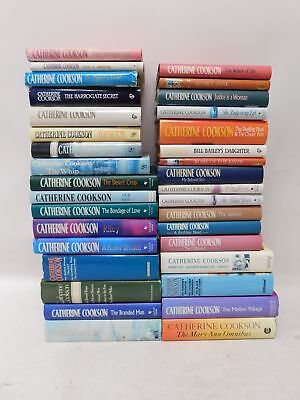 Collection Of 34 CATHERINE COOKSON Hardback Books  - G13