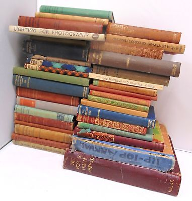 Large Collection Of 36 Assorted Antique And Vintage Books - C55