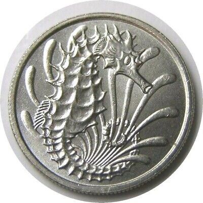 elf Singapore 10 Cents 1976  Sea Horse