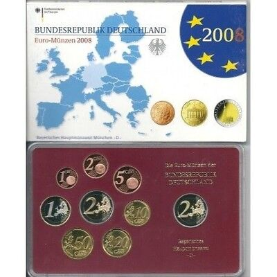 2008 Germany Divisional Proof Of 5 Ticks 9 Coins Euro Mf8790