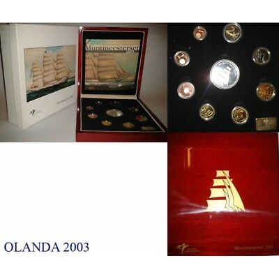 2003 Holland Divisional Proof Sailing Ships 9 Coins Mf8830