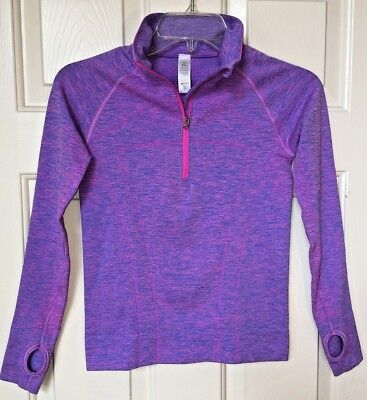 Ivivva by Lululemon The Fastest Zip Pullover Top Pow Pink Blue 10 MINT!