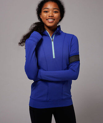 IVIVVA lululemon Girls glow and go pullover jacket 12 pigment blue  free ship