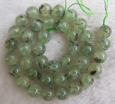 """4mm 6mm 8mm 10mm 12mm 14mm Natural Green Prehnite Round Loose Beads 15"""""""