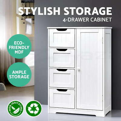 Bathroom Storage Cabinet Laundry Toilet Cupboard Tallboy Shelf Drawer Furniture