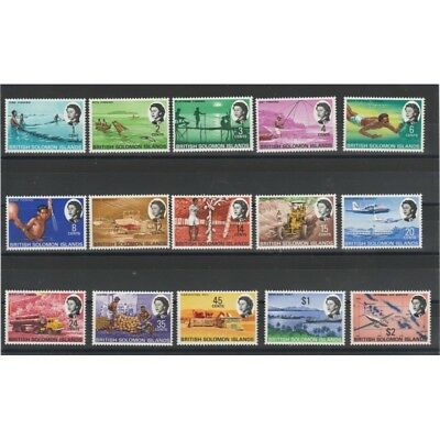 British Solomon Islands 1968 Final 15 V Mnh Yv 161-175 Mf51113