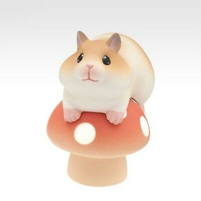 Kitan Club Capsule Animal Various Mushrooms & Hamster Swing Red Figure