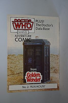 Doctor Who GOLDEN WONDER MARVEL ADVENTURE COMICS N°2 di 6 1986