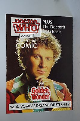 Doctor Who GOLDEN WONDER MARVEL ADVENTURE COMICS N°6 di 6 1986
