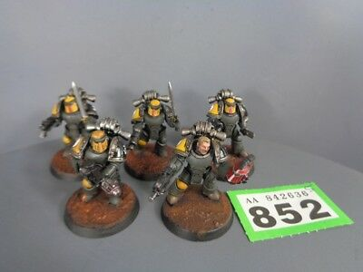 Warhammer 40,000 Space Marines Imperial Fists Vets MK III Squad 852