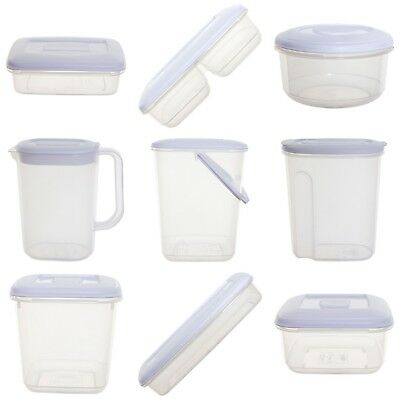 NEW Plastic Food Storage Boxes Box Fridge Jug Canisters & Cereal Storers Choice