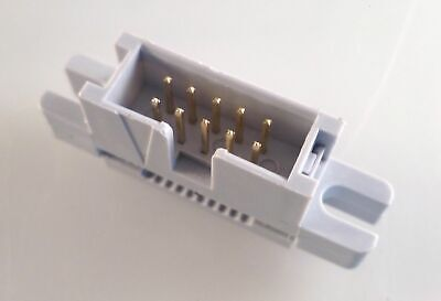 10 Way Boxed Header Plug IDC Ribbon Cable Mount 1,2,5,10 or 25 Pieces MBK0-02