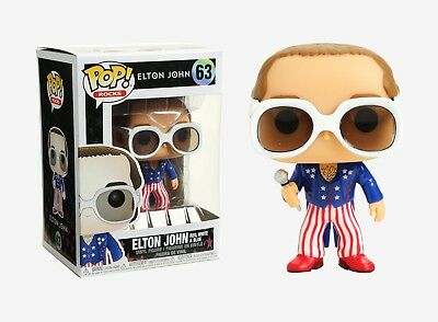 Funko Pop Rocks: Elton John Red, White, & Blue Vinyl Figure Item No. 26295