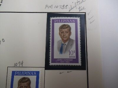 Rare Stamp Errors, Philippines 1965 JFK Memorial Stamps, 2 With Errors 3 Without