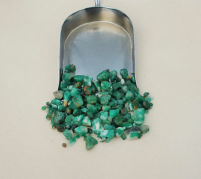Emerald Natural Crystal Gem Loose Rough Parcel Over 50 Carats