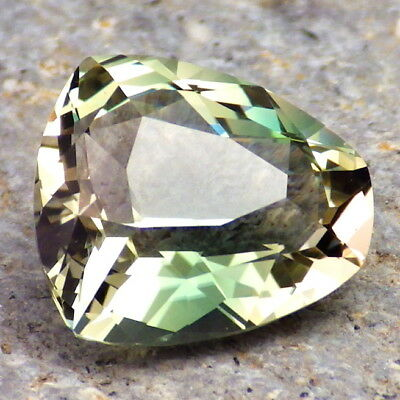 GREEN-PINK DICHROIC OREGON SUNSTONE 6.22Ct FLAWLESS-FOR HIGH-END JEWELRY!