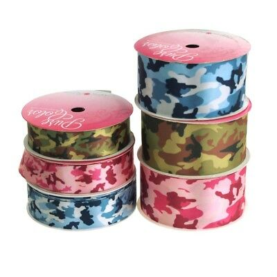 Camouflage Double Face Satin Ribbon