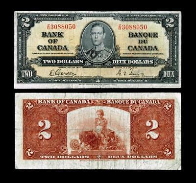 1937 $2 BANK OF CANADA Two DOLLARS