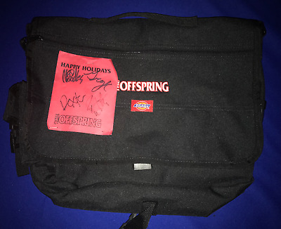 vintage HAND SIGNED Offspring PROMO LAPTOP/COMPUTER BAG NEW autographed by band
