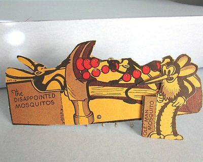 2 Disney POST TOASTIES Cereal Box Cut-Out 1934 Mickey Mouse Camping Mosquito