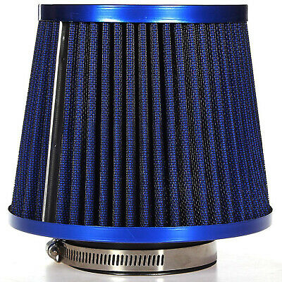 New General Car Air Intake Filter Induction Kit High Power Sports Mesh Cone Blue