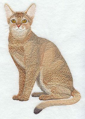 Large Embroidered Zippered Tote - Abyssinian Cat C7904