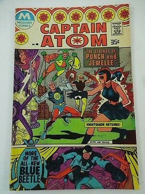 Vtg Captain Atom 85 Modern Comics 1978 Steve Ditko Originally Presented in 1966