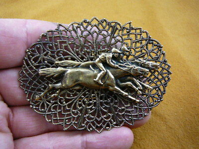 (B-HORSE-255) RACE HORSE derby jockey pin pendant horses bet track races win