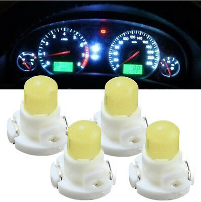 4PC T4 Neo Wedge Climate Base LED Cluster Instrument Dash Bulb Lamp Lights White