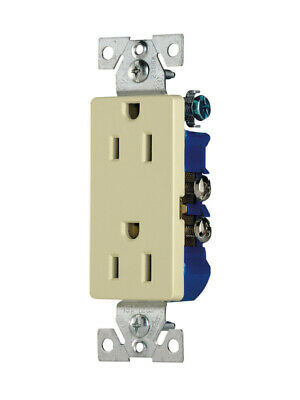 (Lot of 2) Eaton (1107A) Grounding Receptacle, 15A-125V, 2-Pole, 3-Wire, Almond