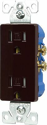 Cooper Wiring TR1107B, 2-Pole/3-Wire Decorator Receptacle, Brown- Lot of 2