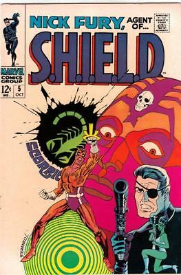 Nick Fury Agent of S.H.I.E.L.D. # 5 strict NM/NM-  artist Jim Steranko