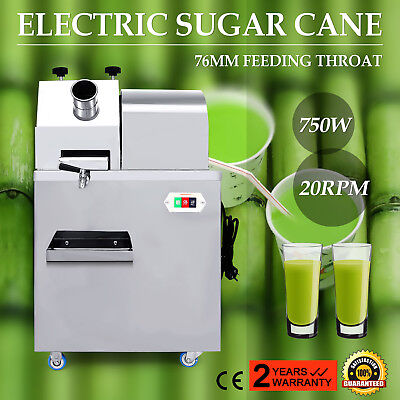 Electric Sugar Cane Juicer 20RPM 1HP 660lbs/H Juice Tray 330kg/H Productivity