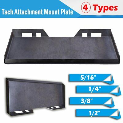 "1/4"" 5/16"" 3/8"" 1/2"" Quick Tach Attachment Mount Plate Skid Steer Loader Bobcat"