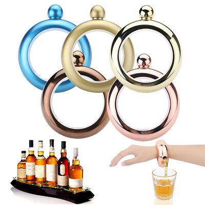 3.5oz 304 Booze Smuggle Bracelet Bangle Flask Alcohol Drink Festival Jewellery