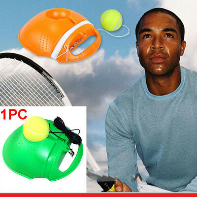 Tennis Trainer Baseboard Sparring Device Training Tools With Ball Orange Green