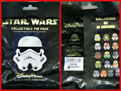 Disney Collectible Pin Pack STAR WARS HELMETS Mystery Bag of 5 Pins Sealed - NEW