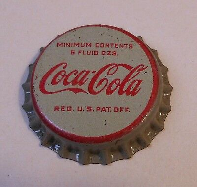 "Vintage Coca Cola 1950's ""Grey Skirt""..cork..unused..SODA BOTTLE CAP.."