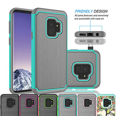 For Samsung Galaxy S9 Armor Shockproof Hybrid Rubber Impact Hard Case Cover