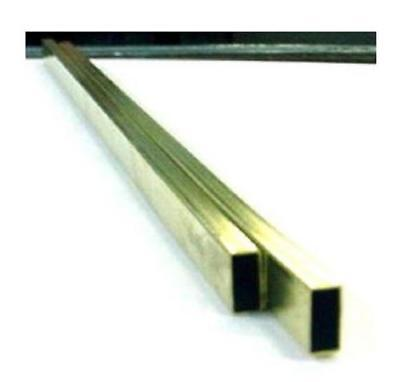"K&S 264 Metal Rectangular Tube 1/8""X1/4""X12"" - Brass"