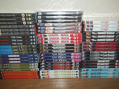 60 x FILM DVD BUNDLE - NIGHT LIVING DEAD, RUN 2 U, THEM THAR HILLS, RAMSAY - NEW