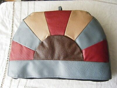 Vintage Faux Leather Tea Cosy, Retro 1960's/ 1970's