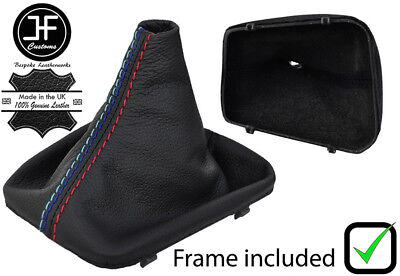 AAAUPHOLSTER M-Stitch ////// Manual Stick Shifter Black PVC Leather Shift Boot /& E Brake Cover Set FITS for BMW E-46 3-Series /& Years to FIT 1999 2000 2001 2003 2004